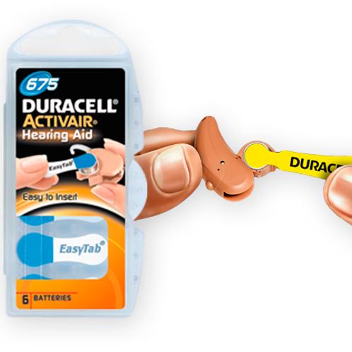 Pila Duracell N°675 Audiológicas Activair