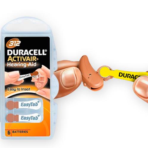 Pila Duracell N°312 Audiológicas Activair