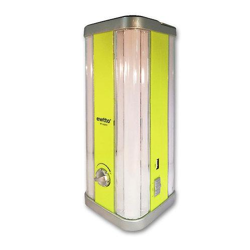 Linterna de emergencia con panel solar recargable