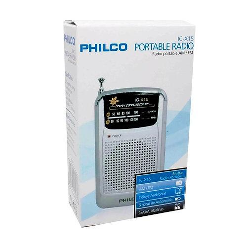 Radio De Bolsillo Philco Ic-x15 Analoga Fm Am