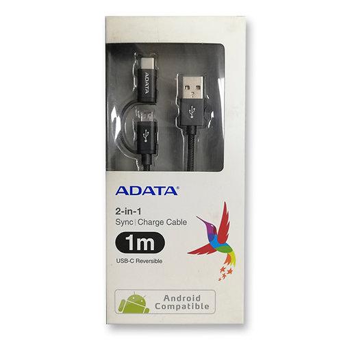 Cable Adata 2 en 1 Micro USB/USB 2.0 Tipo C