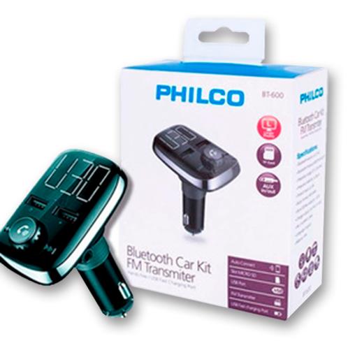 Transmisor Bluetooth FM Philco BT-600 para auto