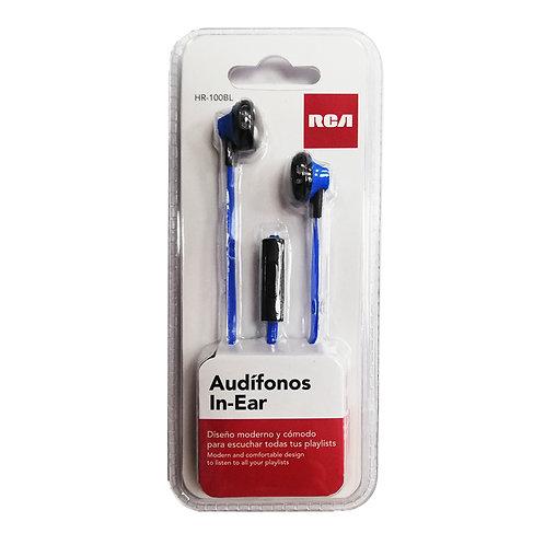 Audifonos In-Ear Manos Libre RCA Azul