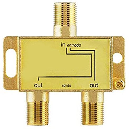 Splitter Coaxial 1 entrada x 2 salidas