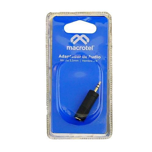 Adaptador  Macho Macrotel 6.5mm a 3.5mm
