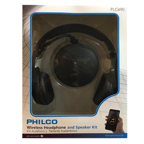 KIt PHILCO Audífono + Parlante 690 Negro