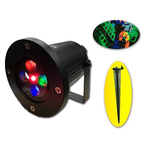 Proyector Luces Navidad Láser Para Exterior Y Interior Con Piquete