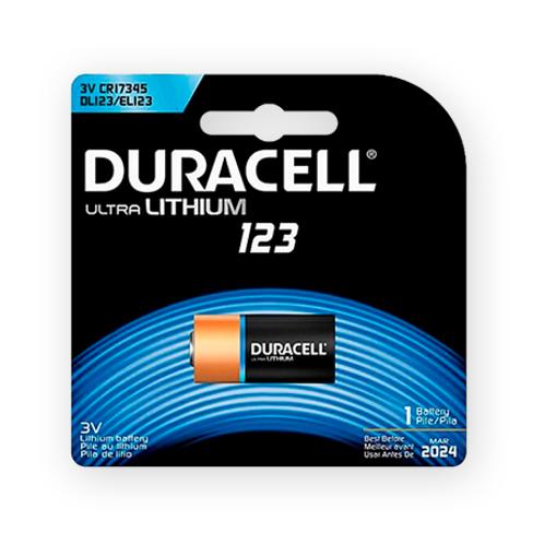 Pila Duracell CR-123 Ultra litium