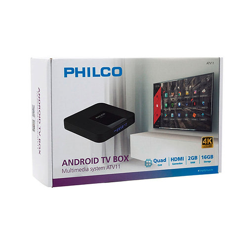 Mini Android TV Box 4K ATV11 Philco