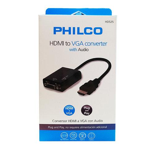 Adaptador HDMI a VGA Philco 1080p