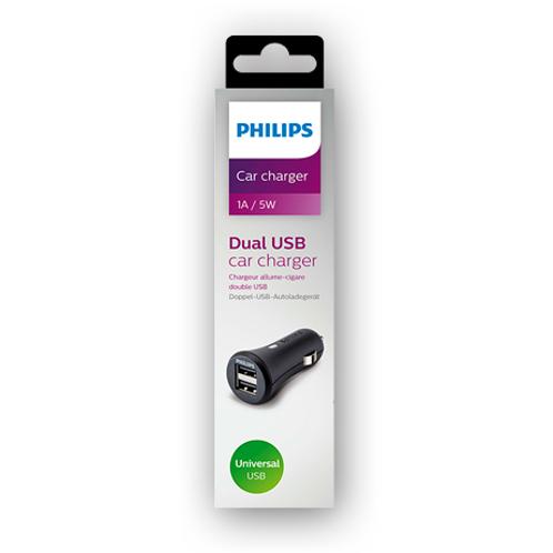 Cargador Philps USB para auto DLP2552