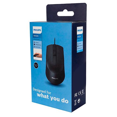 Mouse Óptico Usb Alámbrico M104 Philips