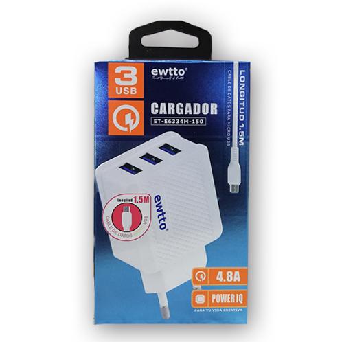 Cargador Ewtto ET-E6334M 4.8A