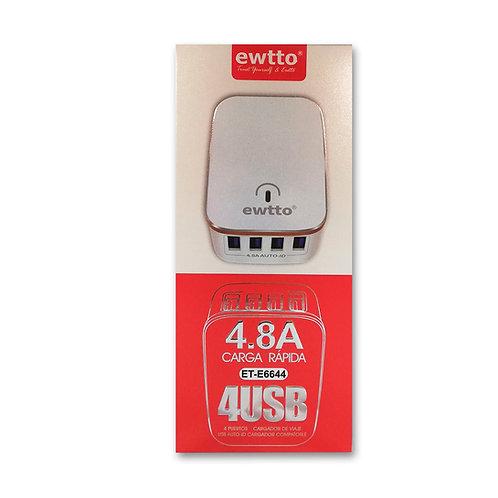 Cargador Ewtto 4 USB 4.8A ET-6644