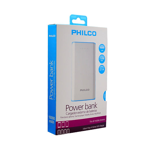 Power Bank Philco 16000 Mah