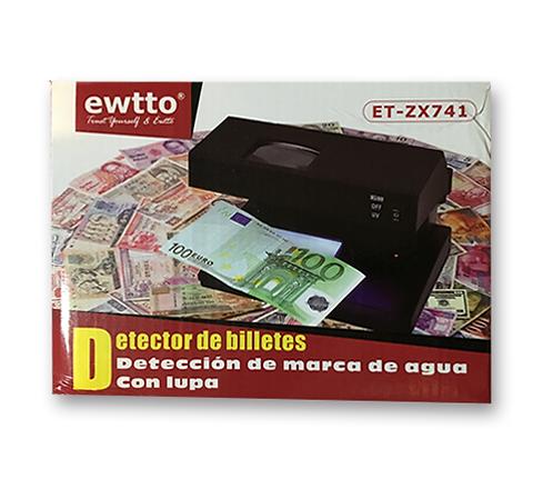 Detector de Billetes con lupa y luz ET-ZX741