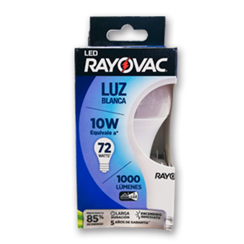 Ampolleta Rayovac 10W Blanca