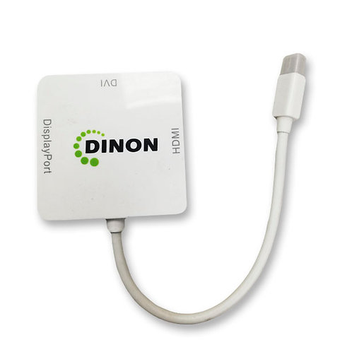 Adaptador 3 en 1 Mini Display Port a HDMI/DVI/DP