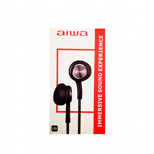 Audífonos In Ear Aiwa I10 Negro