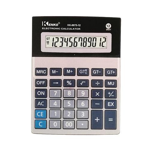 Calculadora Kenko Doble visor 12 dígitos KK-8875-12