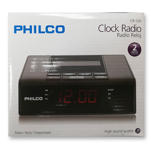 RADIO RELOJ PHILCO CR-120