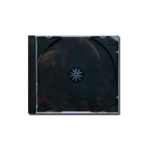 Caja de CD mediana transparente