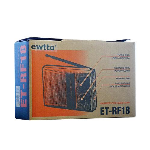 Radio recargabler Ewtto ET-RF18