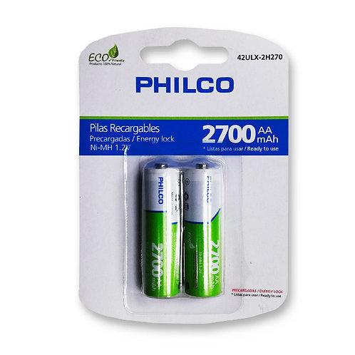 """Pila Recargable Philco """"AA"""" 2700 mAh"""