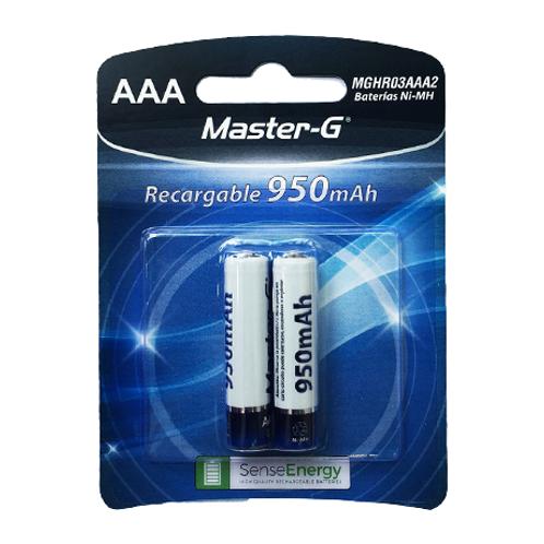 """Pila Master-G recargable """"AAA"""" 950 mAh"""
