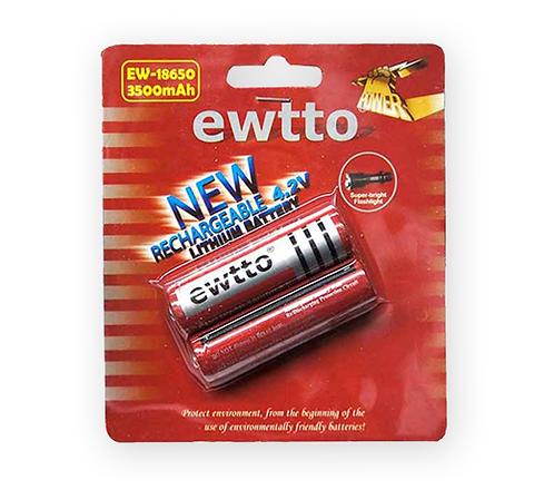 Baterías recargable Litio 18650 blister de 2 unidades