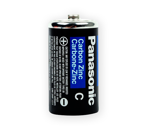 "Pila Panasonic ""C"" Carbón"