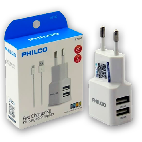 Cargador USB Philco 2.1A