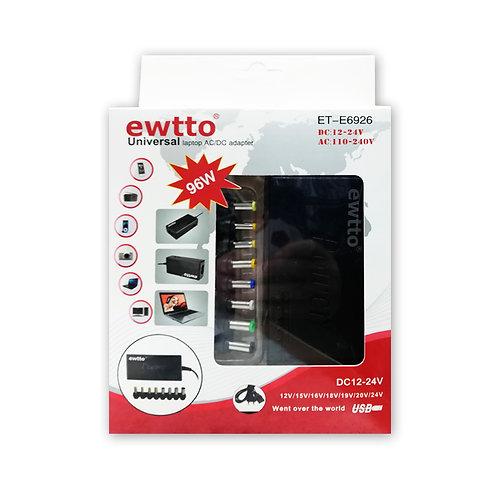 Cargador Universal Ewtto 96W AC-110-240V /DC-12-24V