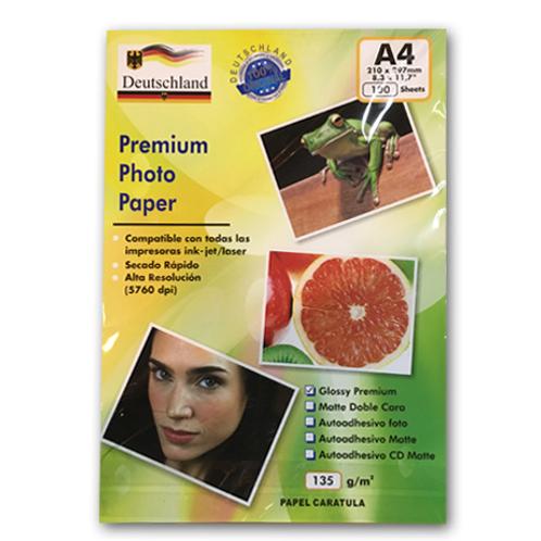 Papel de fotografía brillante A4 100 unidades