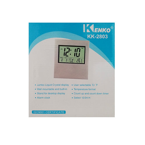 Reloj De Pared Digital kk2803- Ewtto