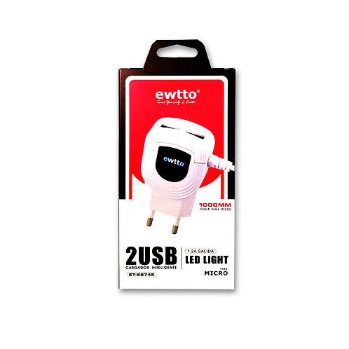 Cargador Ewtto 2 USB 1.2A