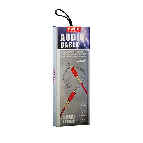 Cable de Audio 3,5 AUX Ewtto ET-E4042 1000mm