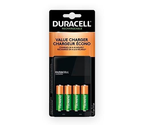 Pack Cargador + 4 Pilas AA 2500mah Duracell