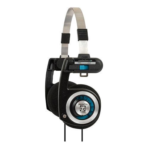 Audífonos Koss Porta Pro De Oído Con Funda. M Negro/plateado