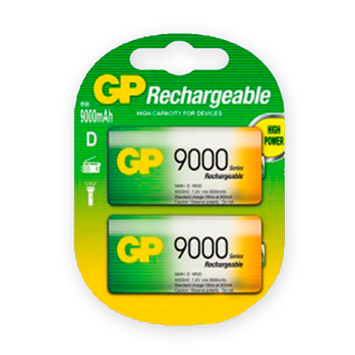 """Pila GP recargable """"D"""" 9000 mAh"""