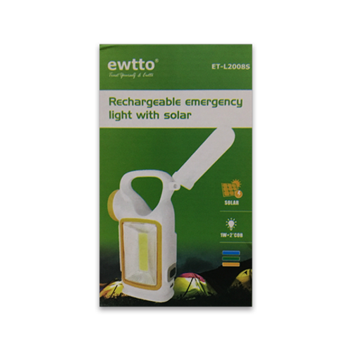 Lampara emergencia solar recargable Ewtto ET-L2008S