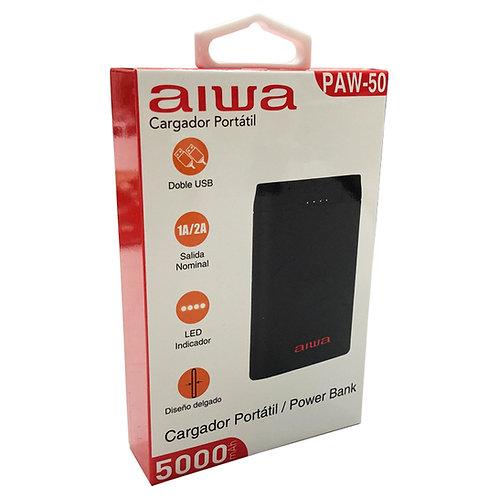 Powerbank Bateria Portatil 5000 Mah Aiwa Paw-50