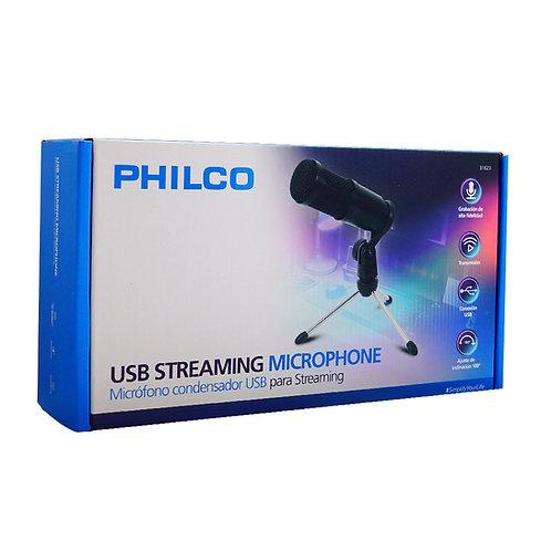 Microfono Philco Streaming Usb Condensador