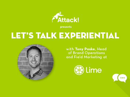 LET'S TALK EXPERIENTIAL: Tony Paske, Head of Brand Operations and Field Mark