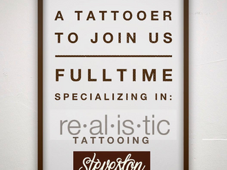 Job Opportunity: Looking for Tattooer