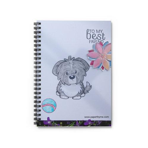 "Spiral Notebook - Ruled Line ""Best Friend"""
