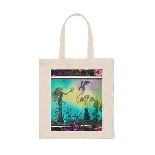 """Canvas Tote Bag """" First Pearl"""""""