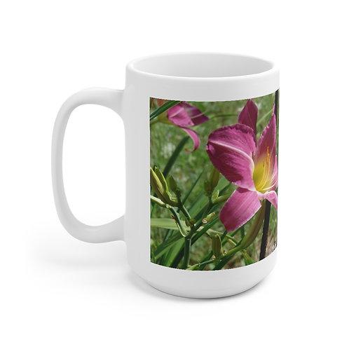 """Ceramic Mug 15oz  """"Bold Lily"""""""