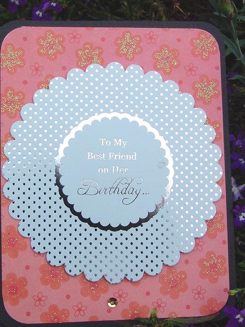 Happy Birthday To my Best Friend pastel green