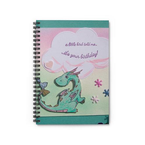 """Spiral Notebook - Ruled Line  """"A Little Bird Told Me...."""""""